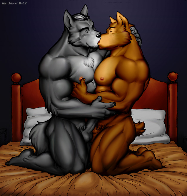 Anthro Balls Bed Canine Couple Erection Fox Fur Furry Gay Xmoviesforyou 1